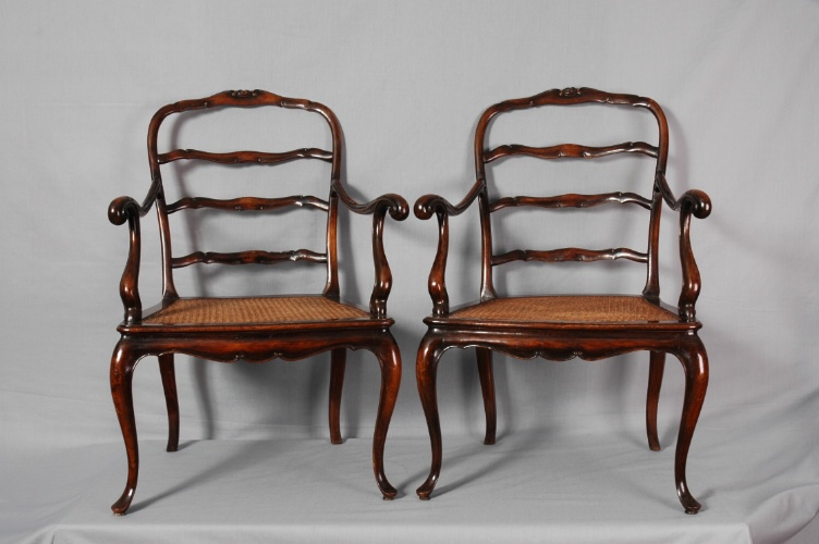 Pair of Walnut Armchairs</font>, Venice, c.1880