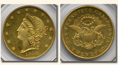 1854 Kellogg $20