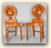 Regency Hall Chairs, England, c.1860